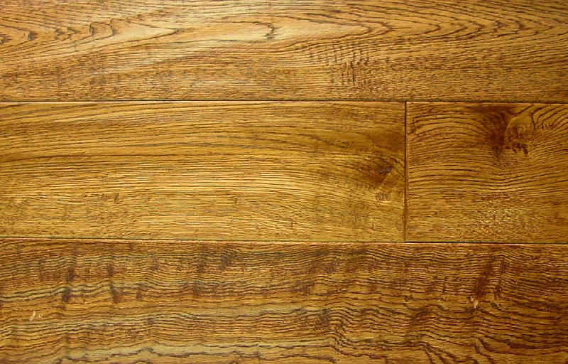 White Oak Prefinished Hand Scraped Hardwood Flooring Photo