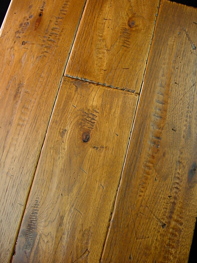 Hickory Prefinished Hand Scraped & Distressed Hardwood Flooring Photo