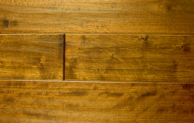 Birch Prefinished Hand Scraped Hardwood Flooring Photo