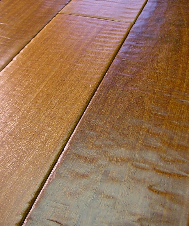 Brazilian Chestnut Prefinished Hand Scraped Hardwood Flooring