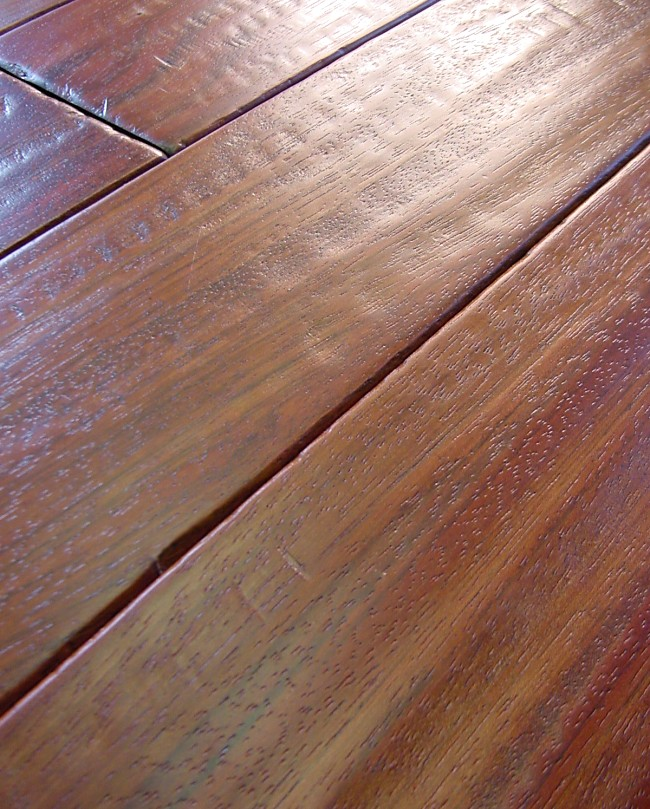 Brazilian Cherry Hand Scraped Hardwood Flooring