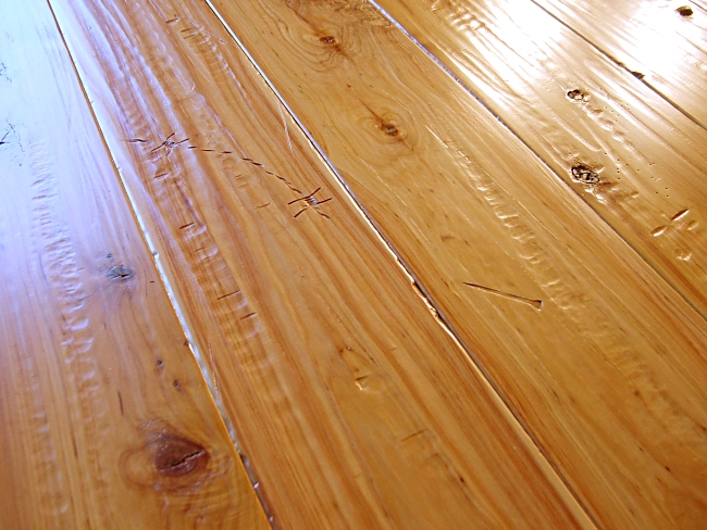 Australian Cypress Prefinished Hand Scraped & Distressed Hardwood Flooring Photo