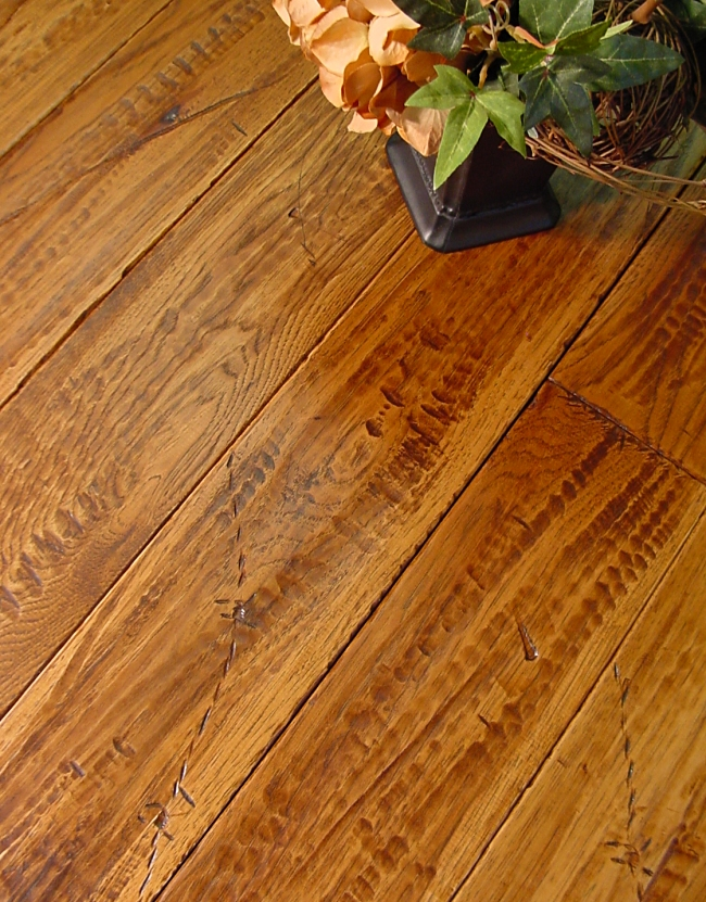 Distressed hickory flooring alyssamyers for Distressed wood flooring