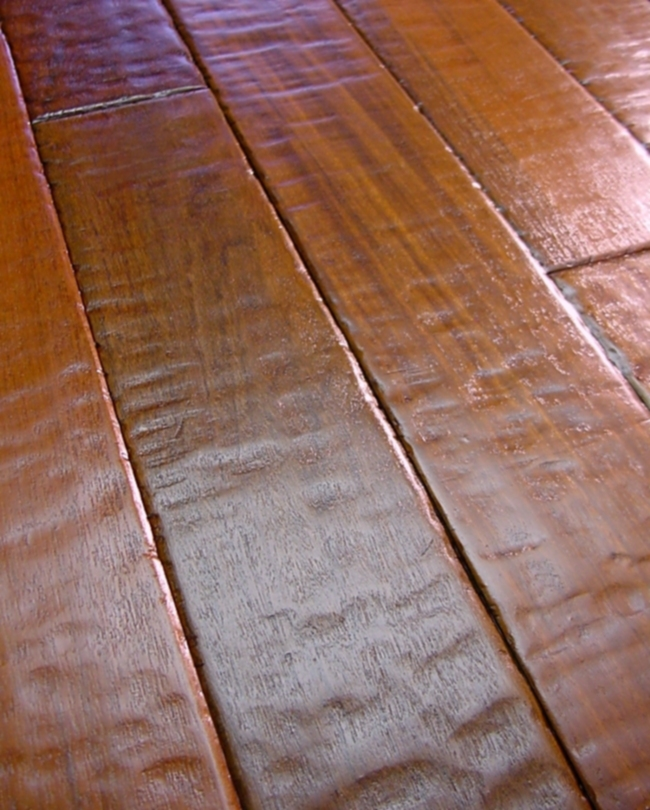 Brazilian walnut prefinished hand scraped hardwood flooring for Hand scraped wood floors