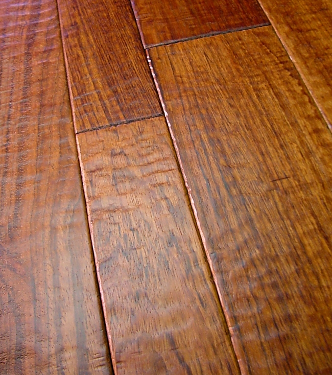 brazilian cherry prefinished hand scraped hardwood flooring