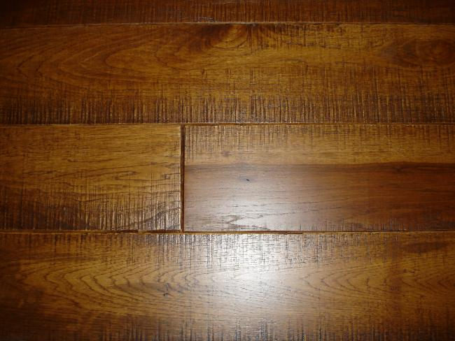 Hickory Skip Sawn Hardwood Flooring Photo