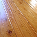 Custom Hand Scraped & Distressed Australian Cypress Flooring w/Barbed Wire Impressions