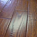 Custom Hand Scraped & Distressed Red Oak Flooring w/Barbed Wire Impressions in Winchester color