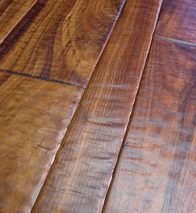Walnut Prefinished Hand Scraped Hardwood Flooring Photo