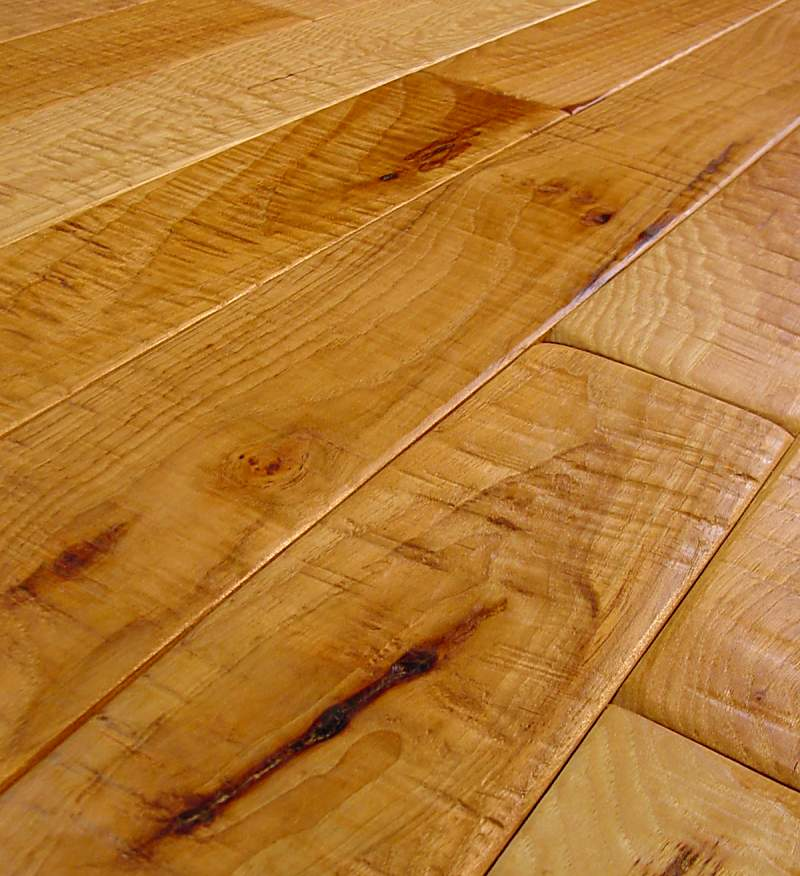 hickory hand scraped hardwood flooring photo