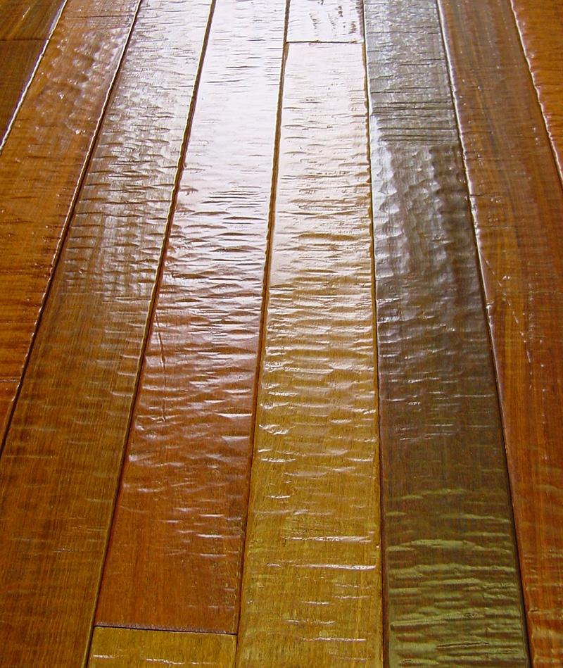 Brazilian walnut hand scraped hardwood flooring photo for Hand scraped wood floors