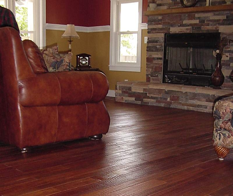 ... Collection Brazilian Cherry Hand Scraped Hardwood Flooring Photo #7